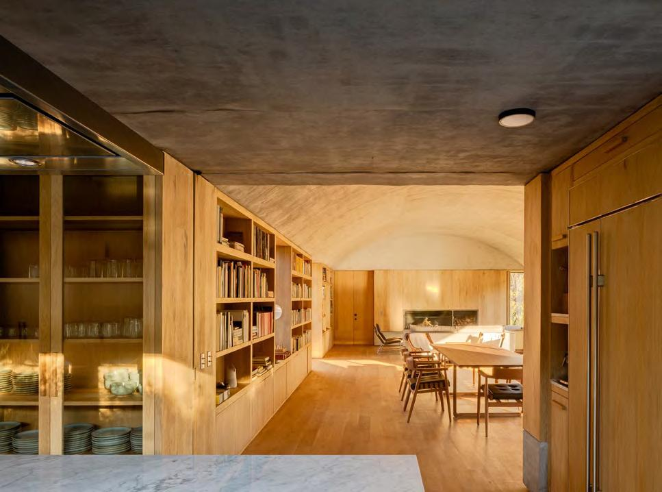 Interior of the open plan kitchen/dining area in Casa Terreno