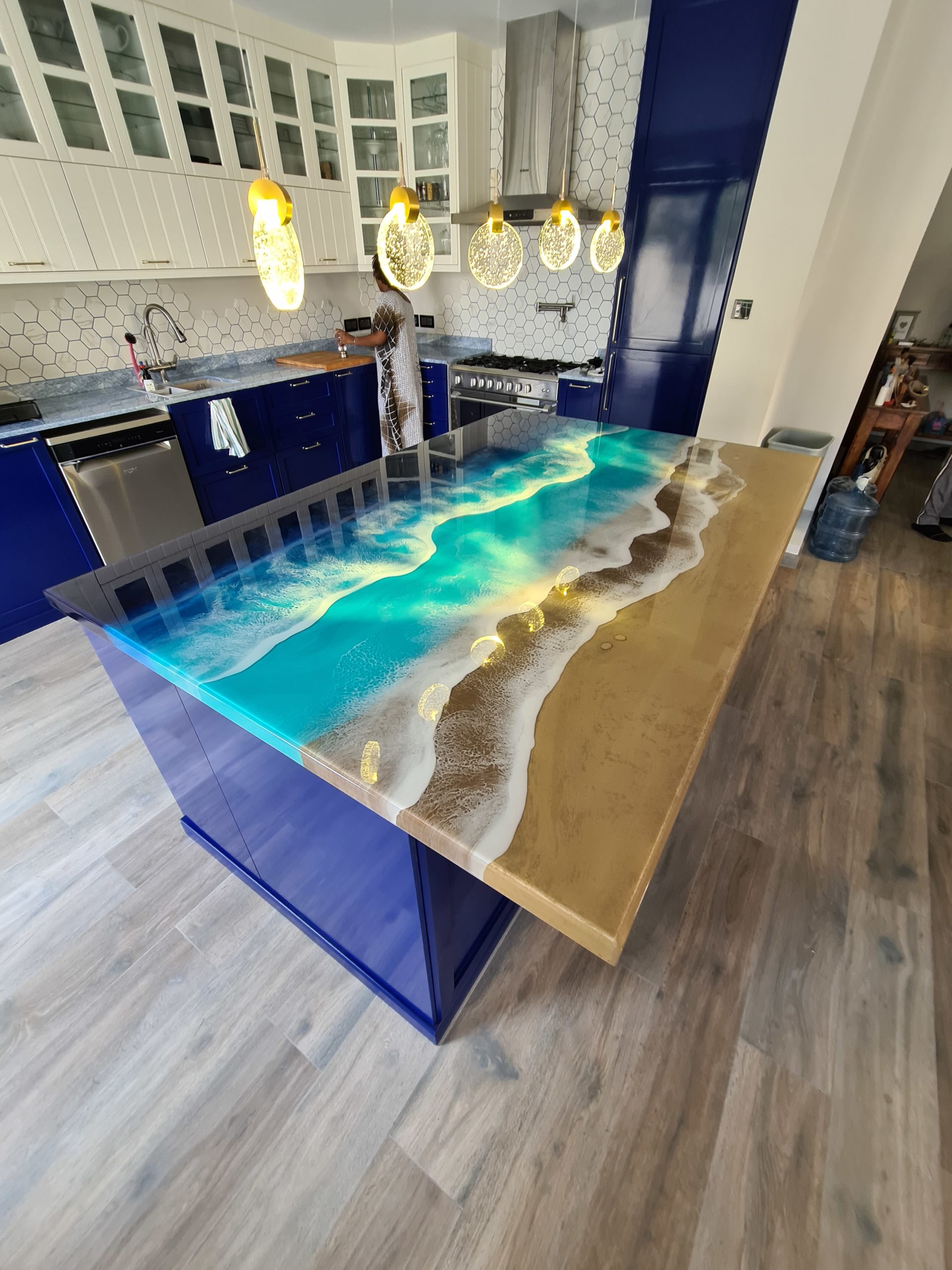 Check Out This Resin Kitchen Island By Wood Culture Designme 14th Street Millworks