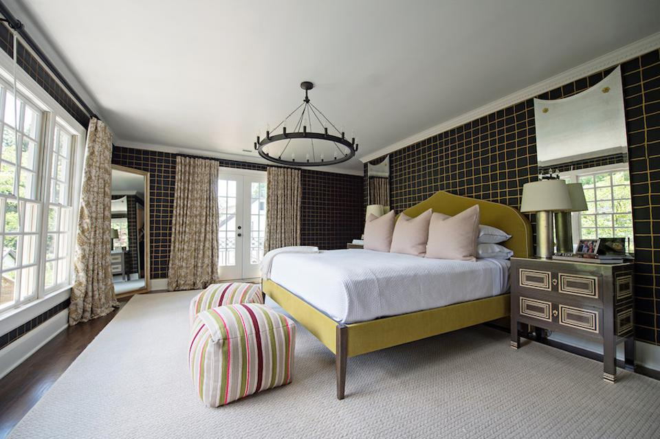 bedroom with custom bed