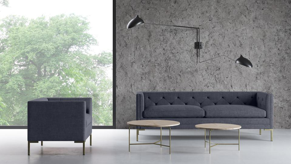 A BenchMade Modern sofa and chair
